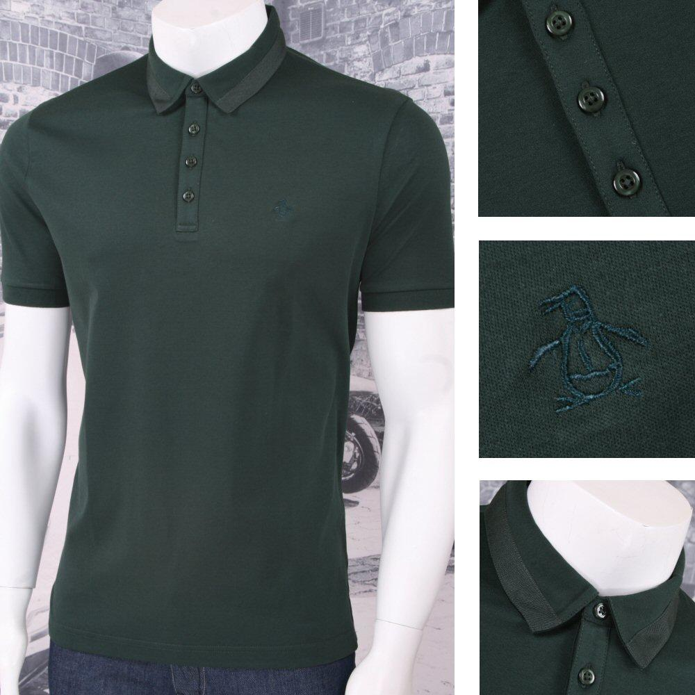 814d62f9e Original Penguin Fine Cotton Jersey S S Polo Shirt Dark Green ...