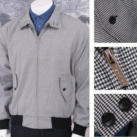 Warrior Clothing 60's Classic Heavyweight Dogtooth Harrington Jacket Thumbnail 1