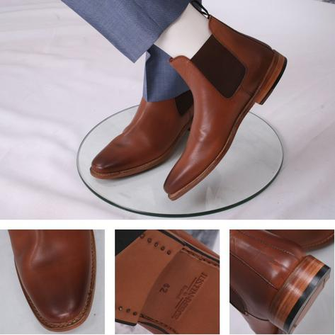 Justin Reece Traditional Chelsea Boot Tan Leather Thumbnail 1