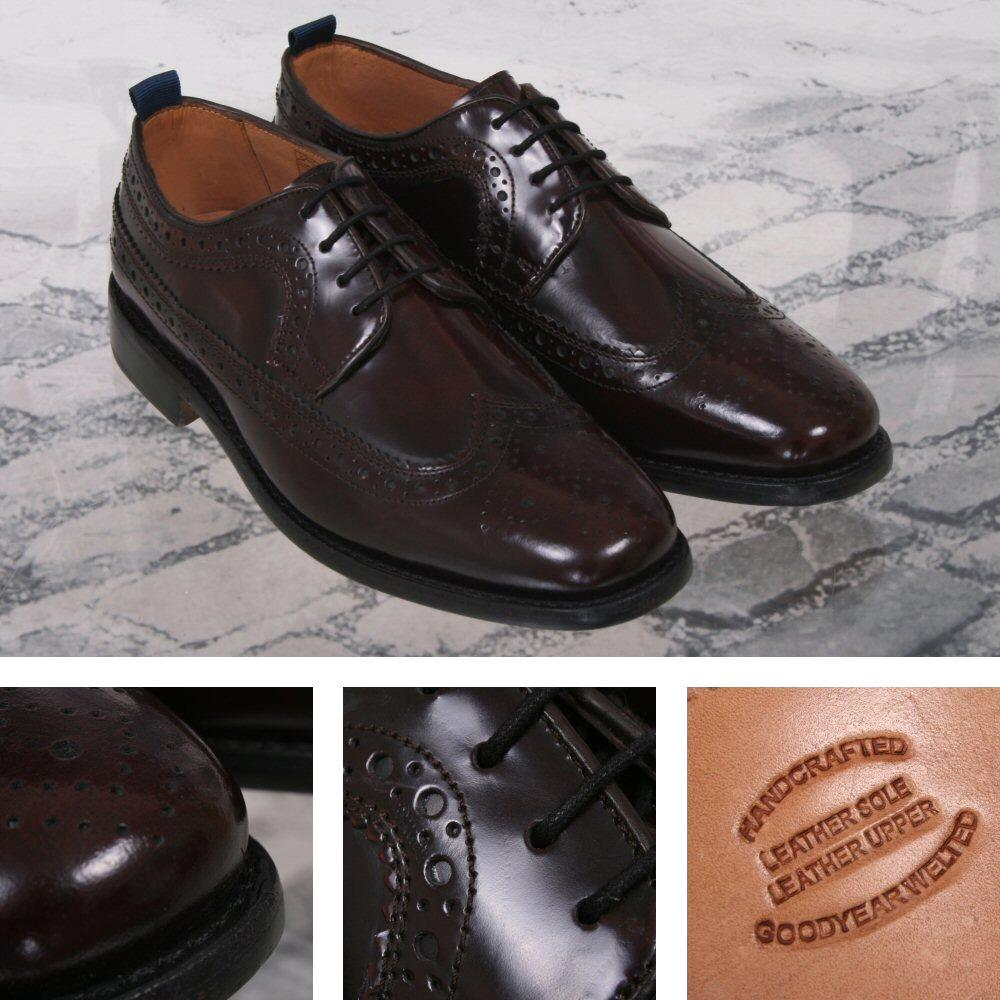 Delicious Junction Skin Mod Brogue Royale Goodyear Welt Sole Shoe Oxblood
