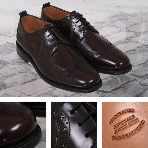 Delicious Junction Skin Mod Brogue Royale Goodyear Welt Sole Shoe Oxblood Thumbnail 1