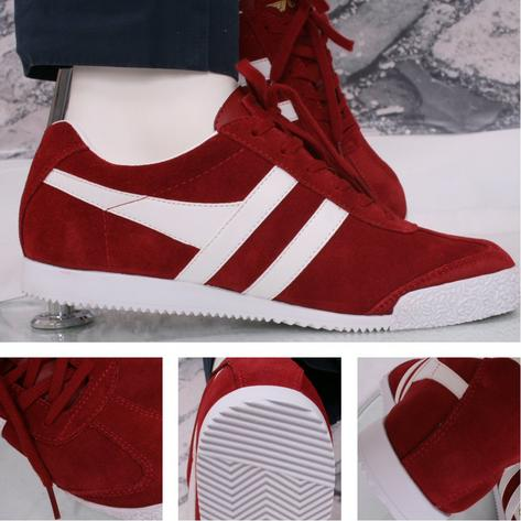 Gola Harrier Classic Suede Trainer Red / White Thumbnail 1