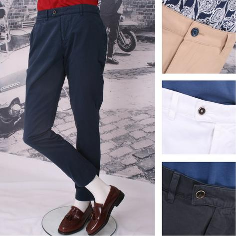 Gibson Cotton Chino Trousers Thumbnail 1