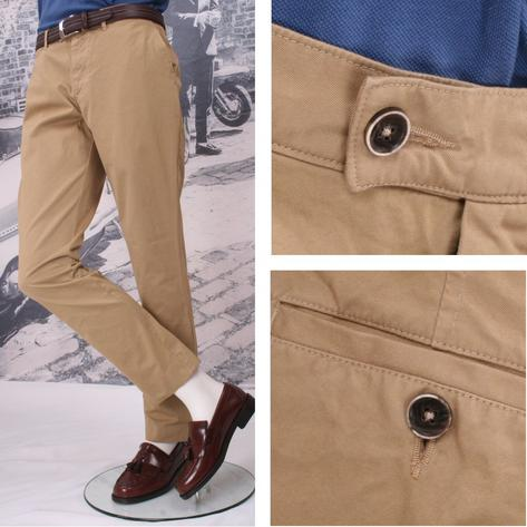 Gibson Cotton Chino Trousers Thumbnail 3