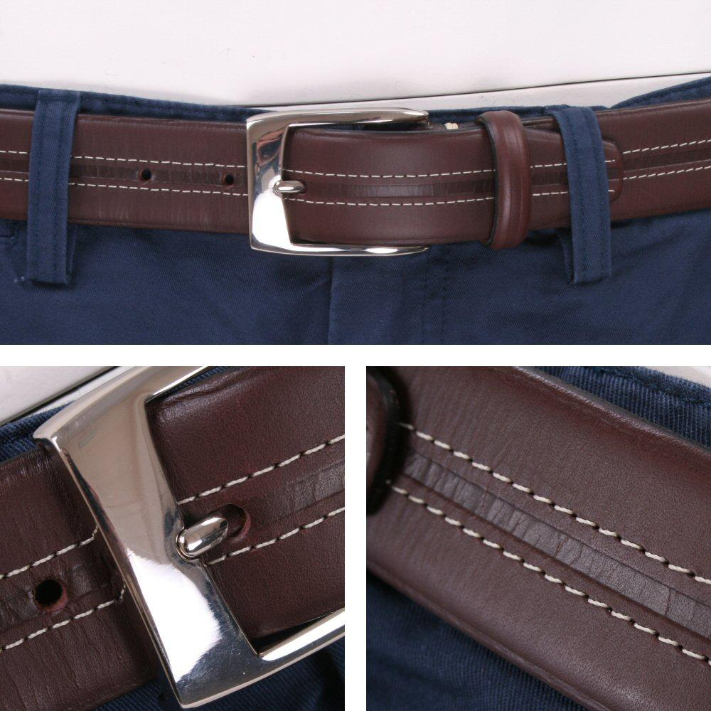 British Belt Company Made in England Premium Quality Stitch Detail Italian Leath