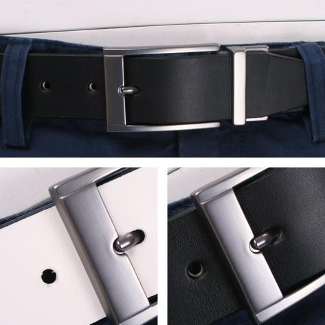 British Belt Company Made in England Premium Quality Reversible Italian Leather Thumbnail 2