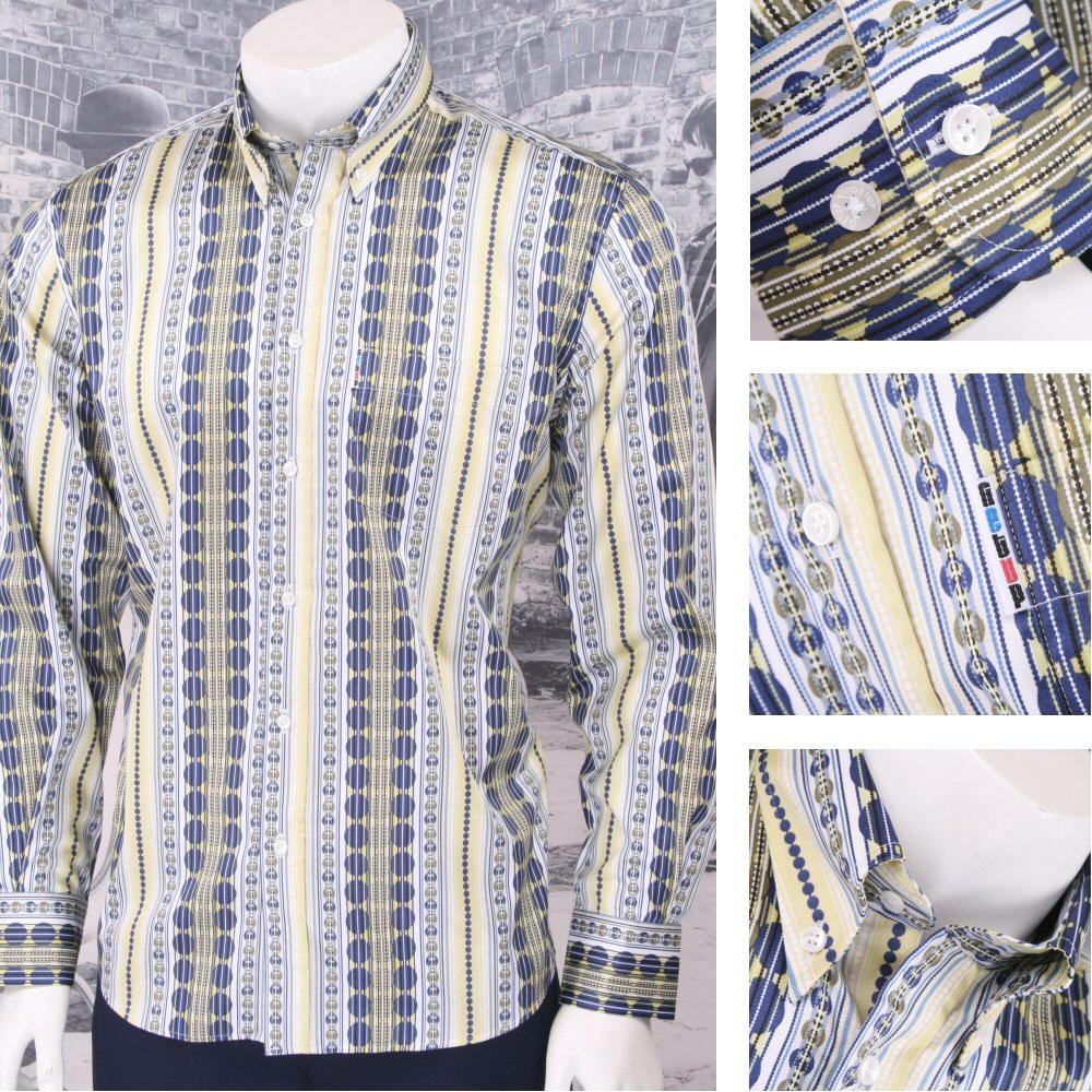 Get Up Retro Loud Lairy Bold Crazy Party Holiday Patterned Shirt Yellow