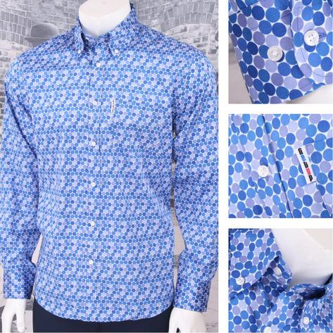 Get Up Retro Loud Lairy Bold Crazy Party Holiday Honeycomb Shirt Blue Thumbnail 1