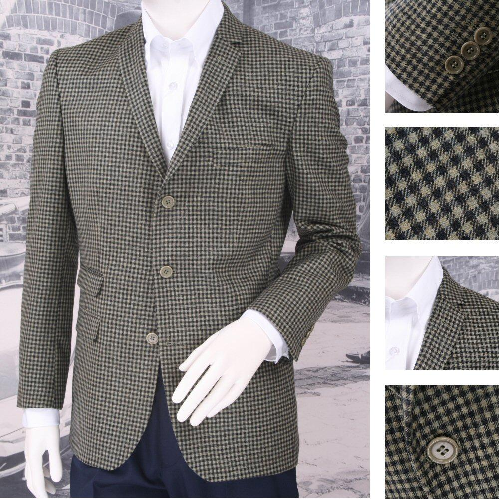 Adaptor Clothing Mod 60's Retro 3 Button Gunclub Check 100% Wool Sports Jacket G