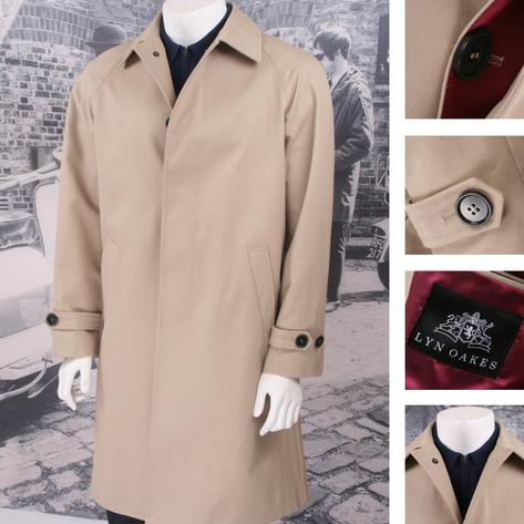 Lyn Oakes Mod Retro 60's Single Breasted Coated Raincoat Mac Thumbnail 3