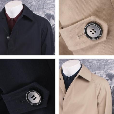 Lyn Oakes Mod Retro 60's Single Breasted Coated Raincoat Mac Thumbnail 1