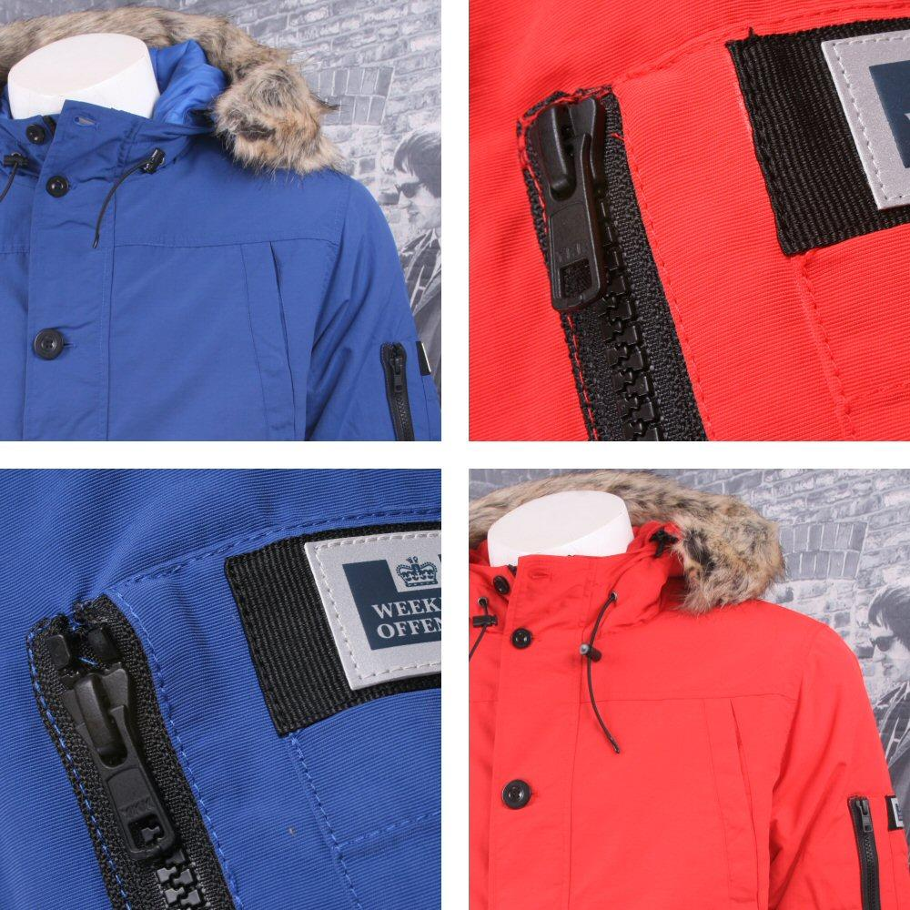 Weekend Offender Quilted Water Resistant Fur Hood Jacket