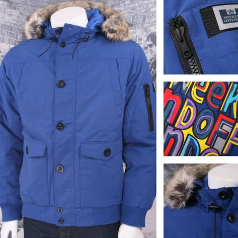 Weekend Offender Quilted Water Resistant Fur Hood Jacket Thumbnail 2