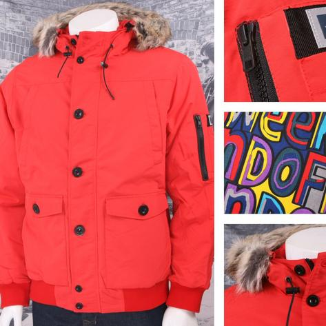 Weekend Offender Quilted Water Resistant Fur Hood Jacket Thumbnail 3