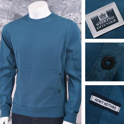 Weekend Offender 100% Cotton Crew Neck Front Pocket Fleece Thumbnail 2