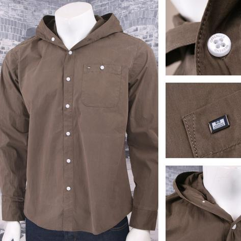 Weekend Offender 100% Cotton Hooded Button Down Shirt Thumbnail 3