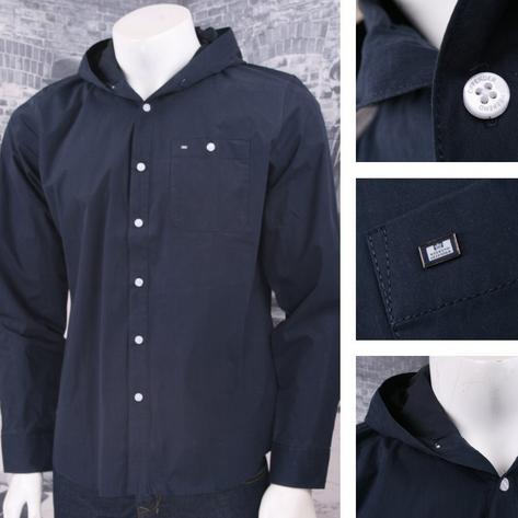 Weekend Offender 100% Cotton Hooded Button Down Shirt Thumbnail 2