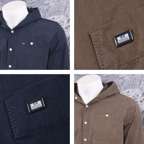 Weekend Offender 100% Cotton Hooded Button Down Shirt Thumbnail 1