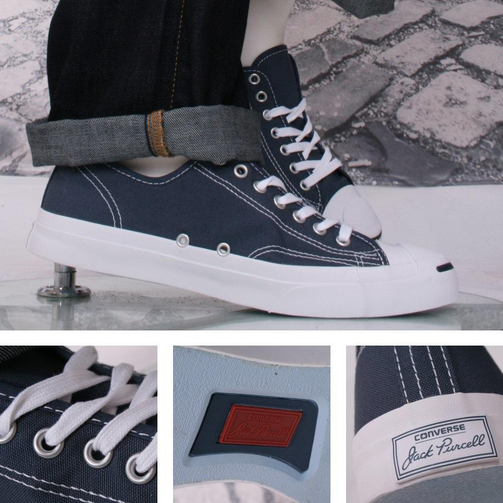 9ddeab29939 Converse Jack Purcell Retro Trainer Navy Blue Canvas