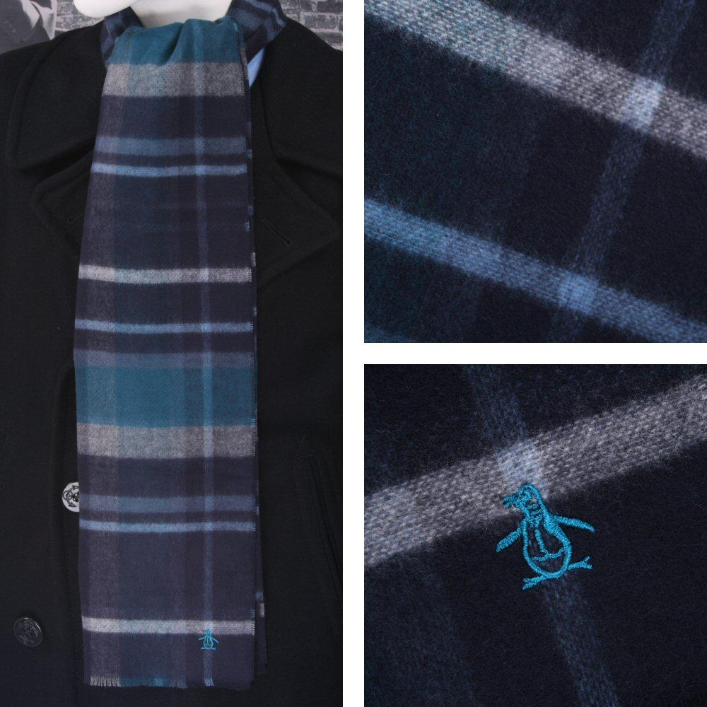 Original Penguin Reversible Plaid Scarf Teal