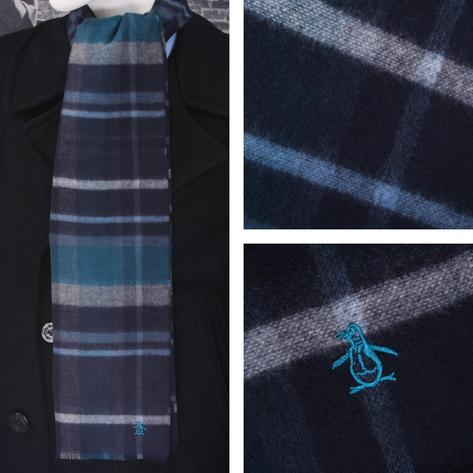 Original Penguin Reversible Plaid Scarf Teal Thumbnail 1