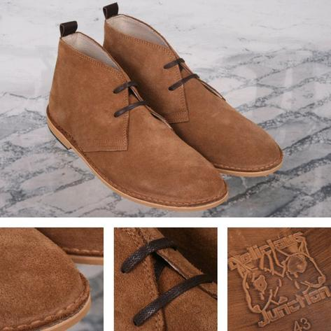 Delicious Junction 60's Resin Sole Lace Up Suede Desert Boot Tan Thumbnail 1