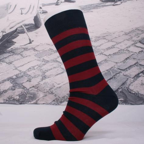 Corgi Welsh Guards Fine Gauge Help For Heroes Stripe Socks Dark Red Thumbnail 1