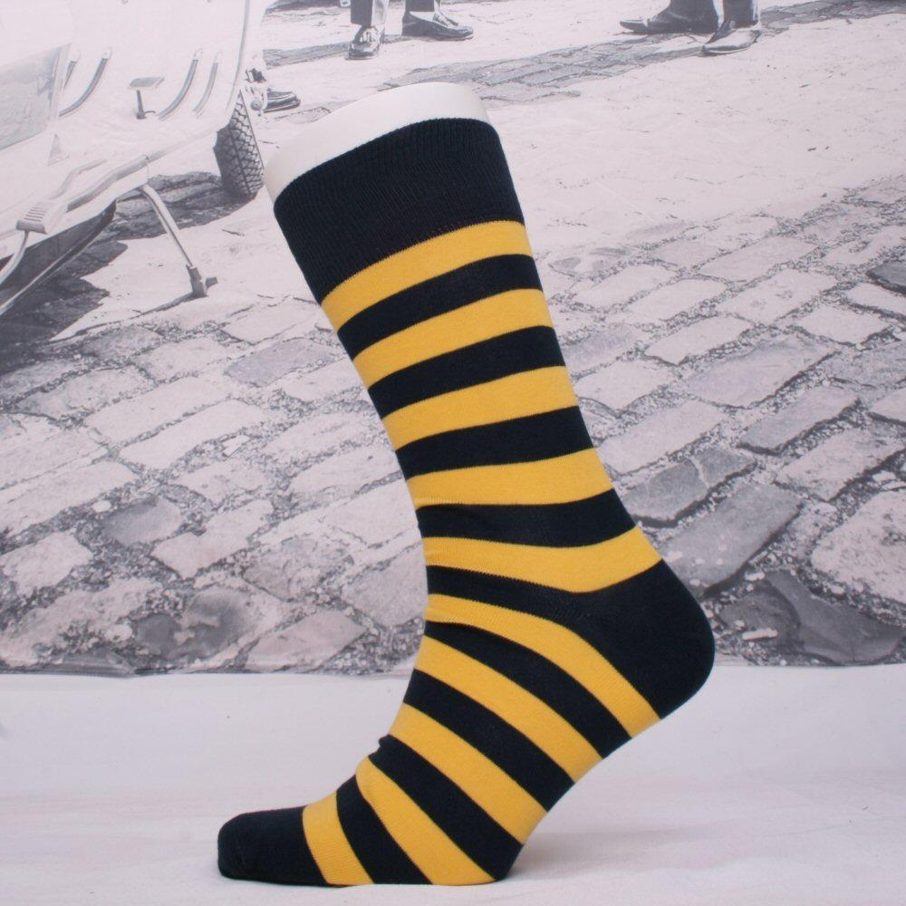 Corgi Queens Yeomanry Fine Gauge Help For Heroes Stripe Socks Yellow
