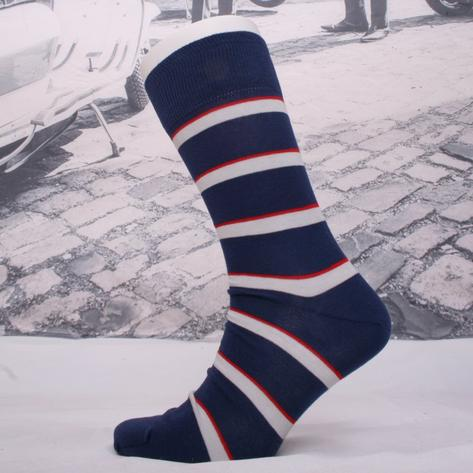 Corgi Army Air Corps Fine Gauge Help For Heroes Stripe Socks Navy Thumbnail 1