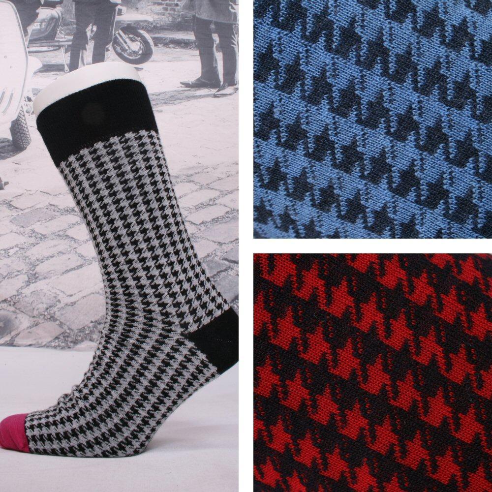 Corgi Fine Gauge Lightweight Houndstooth Pattern Socks | Adaptor ...