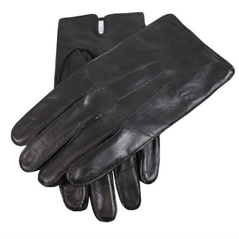 Dents Hairsheep Fleece Lined Leather Gloves Black