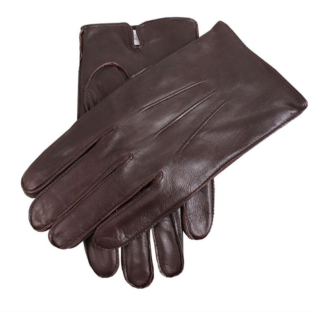 Dents Hairsheep Fleece Lined Leather Gloves Brown