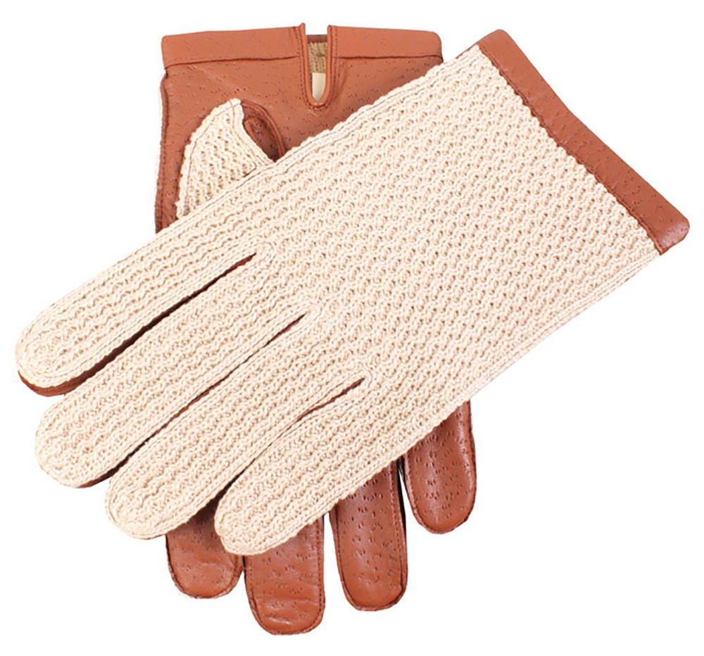 Dents Warm Lined Crochet Back Driving Gloves