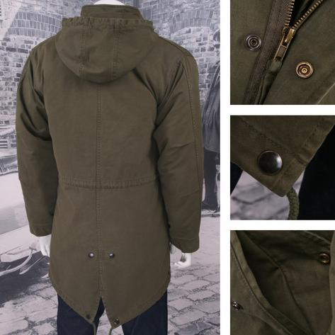Adaptor EXCLUSIVE M-51 Mod Retro Classic Hooded Fishtail Parka Jacket Khaki Thumbnail 2