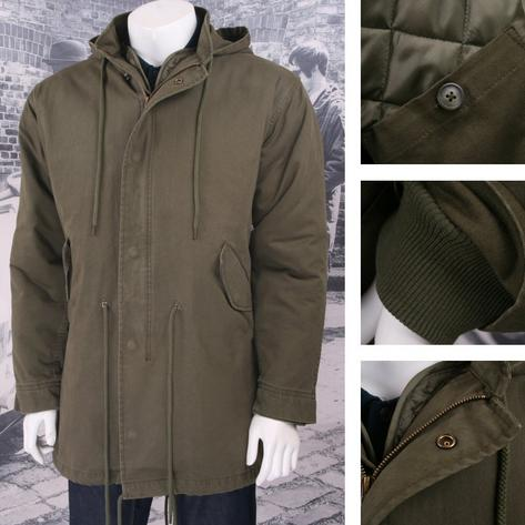 Adaptor EXCLUSIVE M-51 Mod Retro Classic Hooded Fishtail Parka Jacket Khaki Thumbnail 1