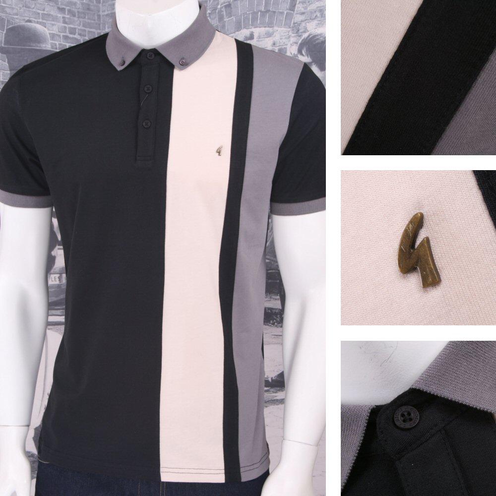 7e5724c0 Gabicci Vintage Mod Retro 60's 100% Cotton S/S Vertical Stripe Polo ...