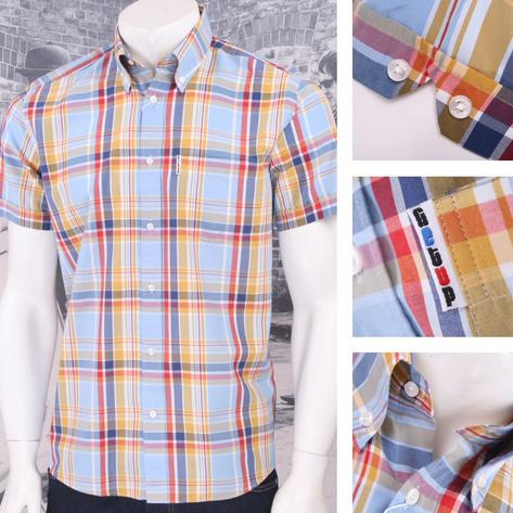 Get Up REGULAR FIT Button Down S/S Window Pane Check Shirt Multi Thumbnail 1