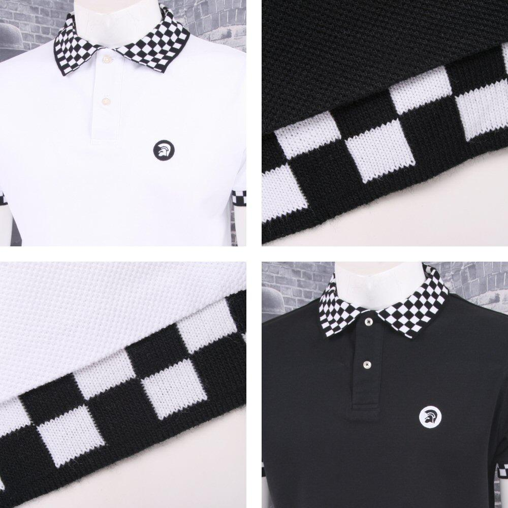 Trojan Records Limited Edition Skin Mod Checkerboard Collar Pique Polo Shirt