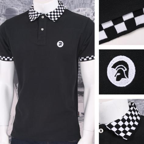 Trojan Records Limited Edition Skin Mod Checkerboard Collar Pique Polo Shirt Thumbnail 3