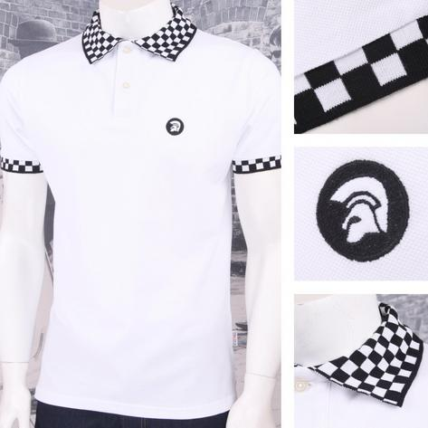 Trojan Records Limited Edition Skin Mod Checkerboard Collar Pique Polo Shirt Thumbnail 2