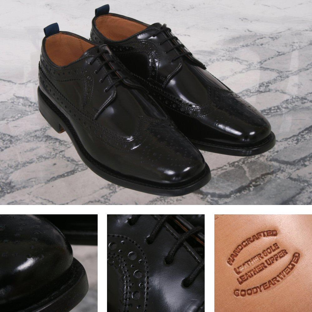 Delicious Junction Skin Mod Brogue Royale Goodyear Welt Sole Shoe Black