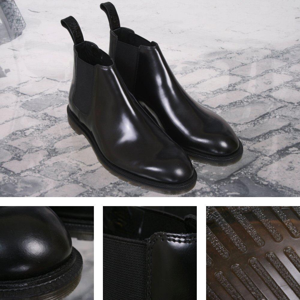 New Dr. Martens Low Cut Goodyear-welted Chelsea Boot Black