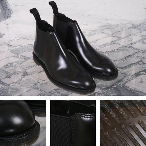 New Dr. Martens Low Cut Goodyear-welted Chelsea Boot Black Thumbnail 1