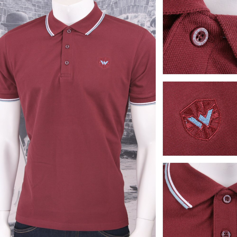 Warrior Clothing 3 Button Pique Short Sleeve Tipped Retro Sports Polo Shirt | Adaptor Clothing