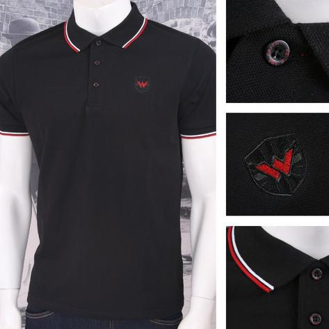 Warrior Clothing 3 Button Pique Short Sleeve Tipped Retro Sports Polo Shirt Thumbnail 4