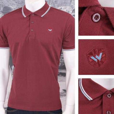 Warrior Clothing 3 Button Pique Short Sleeve Tipped Retro Sports Polo Shirt Thumbnail 3