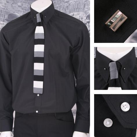 Get Up Mod Poplin Cotton PIN Collar L/S Regular Fit Smart Shirt SALE Thumbnail 4