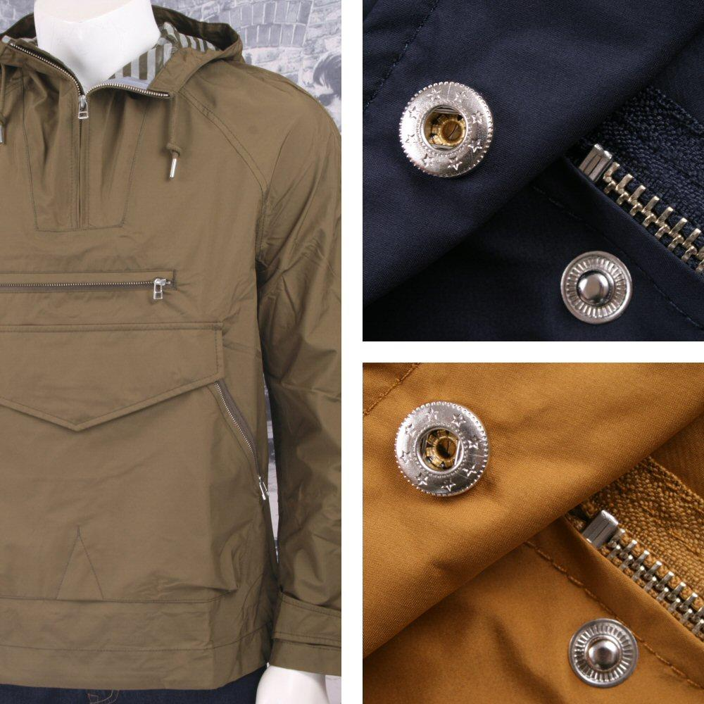 Pretty Green 60's Mod Retro Hooded Windbreaker Cagoule Jacket