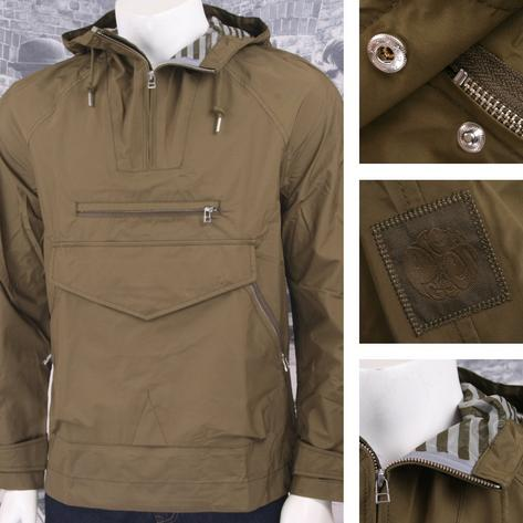 Pretty Green 60's Mod Retro Hooded Windbreaker Cagoule Jacket Thumbnail 2