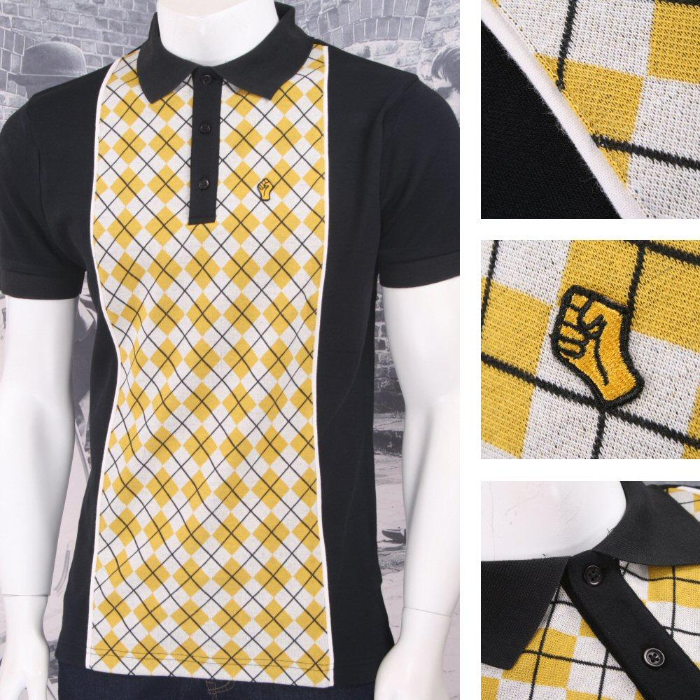 SPECIAL OFFER Wigan Casino Northern Soul Soulie Argyle Knit Panel Polo Shirt